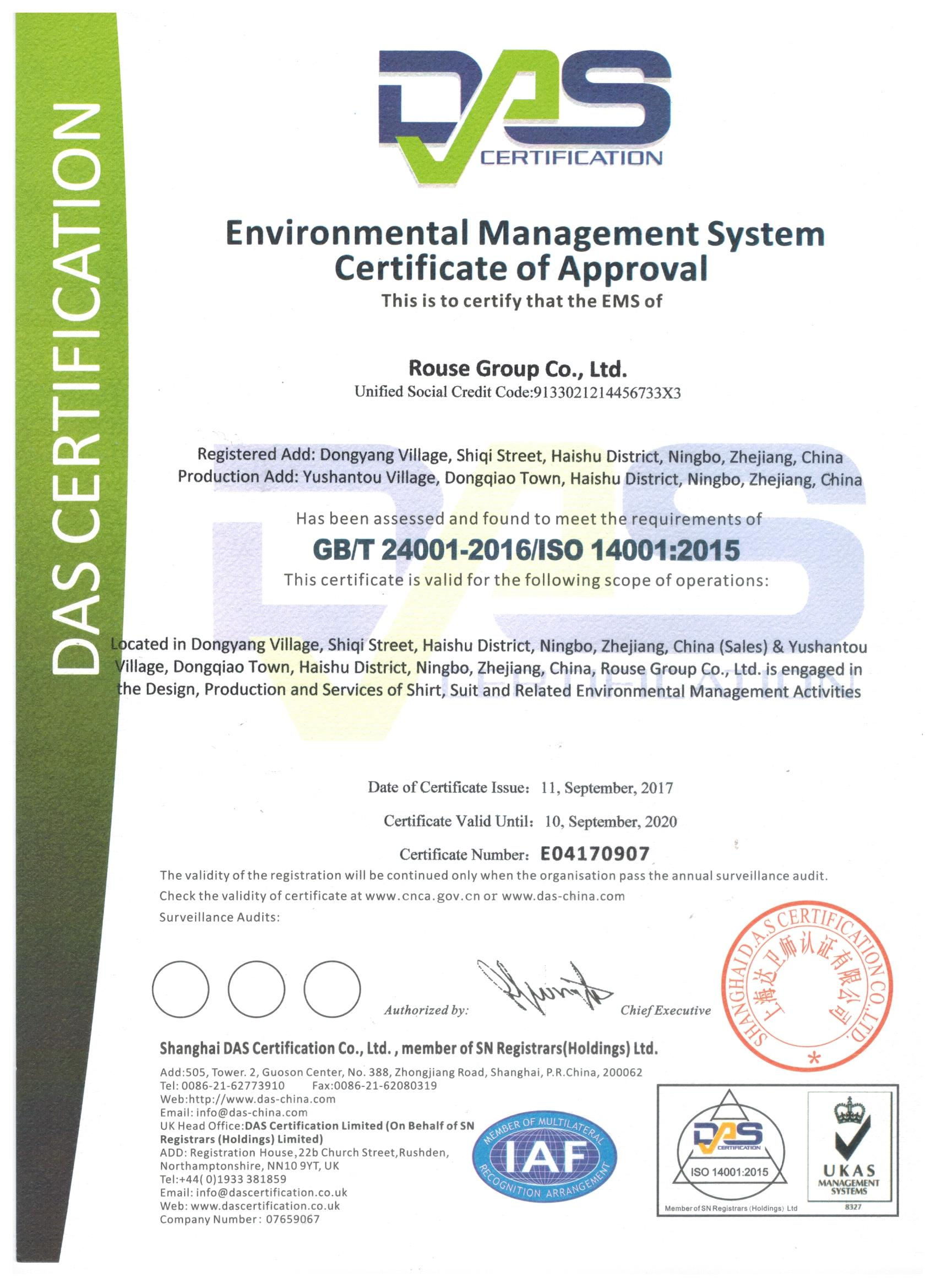 ISO Environmental management system