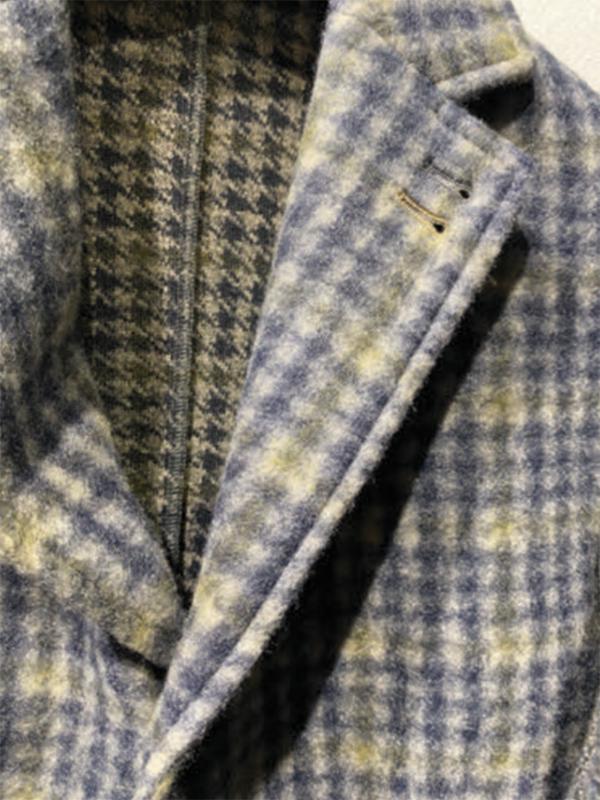 Knit wool- piede de poule melange-brushed