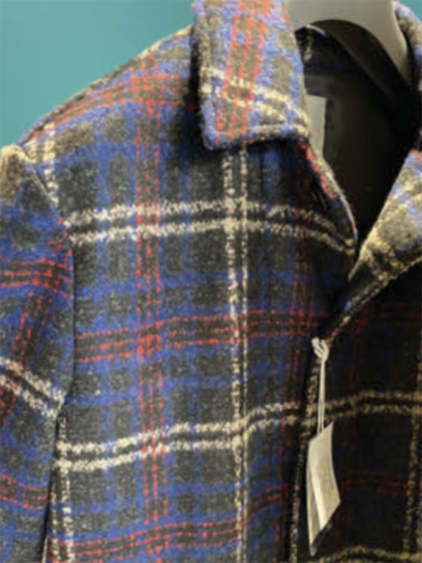 loop yarn-melange-plaid